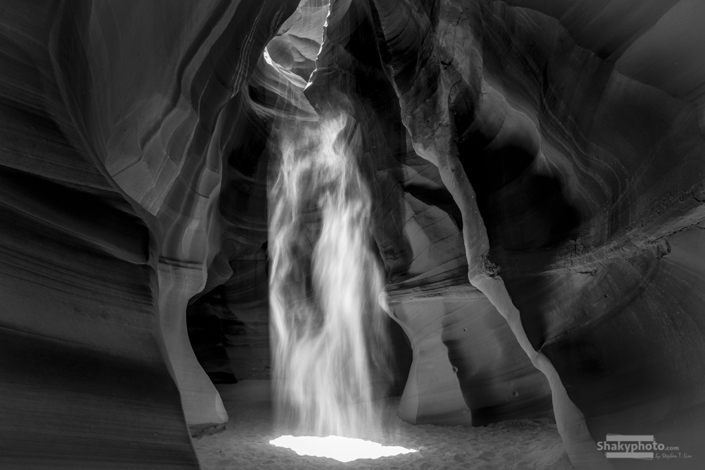 Lady of the Cave BW